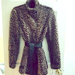 Calvin Klein animal prints coat
